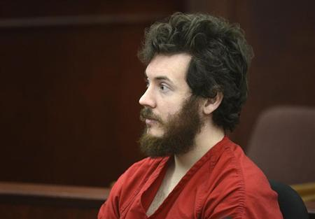 Accused Aurora theater shooting suspect James Holmes listens at his arraignment in Centennial