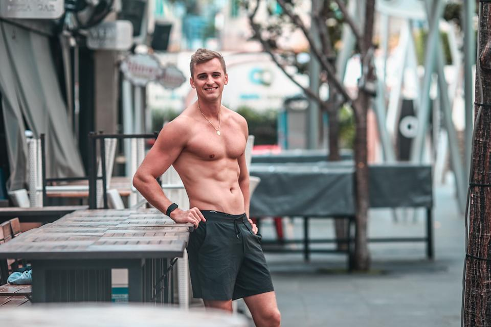 Florian had a stint as a fitness instructor at Les Mills RPM and The Trip.