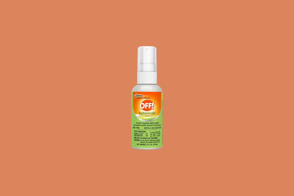 """<p>Looking for a plant-based alternative that you can pick up at the supermarket? This name-brand bug spray is made with plant-based pine oil to combat black flies, gnats, and <a href=""""https://www.marthastewart.com/1540271/how-prevent-common-summertime-garden-pests-bugs"""" rel=""""nofollow noopener"""" target=""""_blank"""" data-ylk=""""slk:mosquitoes"""" class=""""link rapid-noclick-resp"""">mosquitoes</a> and is widely available at most big-box retailers.</p> <p><strong><em>Shop Now: </em></strong><em>OFF! Botanicals Plant-Based DEET Free Insect Repellent IV, $5.99</em><em>, <a href=""""http://goto.target.com/c/249354/81938/2092?subId1=MSL11NaturalMosquitoRepellentstoKeepBugsatBayThisSummerrhaarsOutGal7848564202008I&u=https%3A%2F%2Fwww.target.com%2Fp%2Foff-botanicals-plant-based-deet-free-insect-repellent-iv-4-fl-oz-1ct%2F-%2FA-53280507"""" rel=""""nofollow noopener"""" target=""""_blank"""" data-ylk=""""slk:target.com"""" class=""""link rapid-noclick-resp"""">target.com</a></em><em>. </em></p>"""