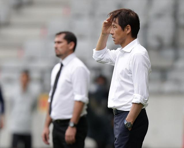 Soccer Football - International Friendly - Japan vs Paraguay - Tivoli-Neu, Innsbruck, Austria - June 12, 2018 Japan coach Akira Nishino reacts REUTERS/Lisi Niesner