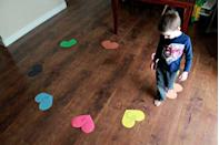 """<p>The Many Little Joys has come up with five games you can do with preschoolers just with numbered construction-paper hearts, including musical hearts (instead of musical chairs), heart hopscotch and heart stomp, a game where you call out a number and kids race to see who can stomp it first.</p><p><em><a href=""""https://themanylittlejoys.com/5-in-1-valentines-learning-game-for-preschoolers/"""" rel=""""nofollow noopener"""" target=""""_blank"""" data-ylk=""""slk:Get the Tutorial at The Many Little Joys »"""" class=""""link rapid-noclick-resp"""">Get the Tutorial at The Many Little Joys »</a></em></p>"""