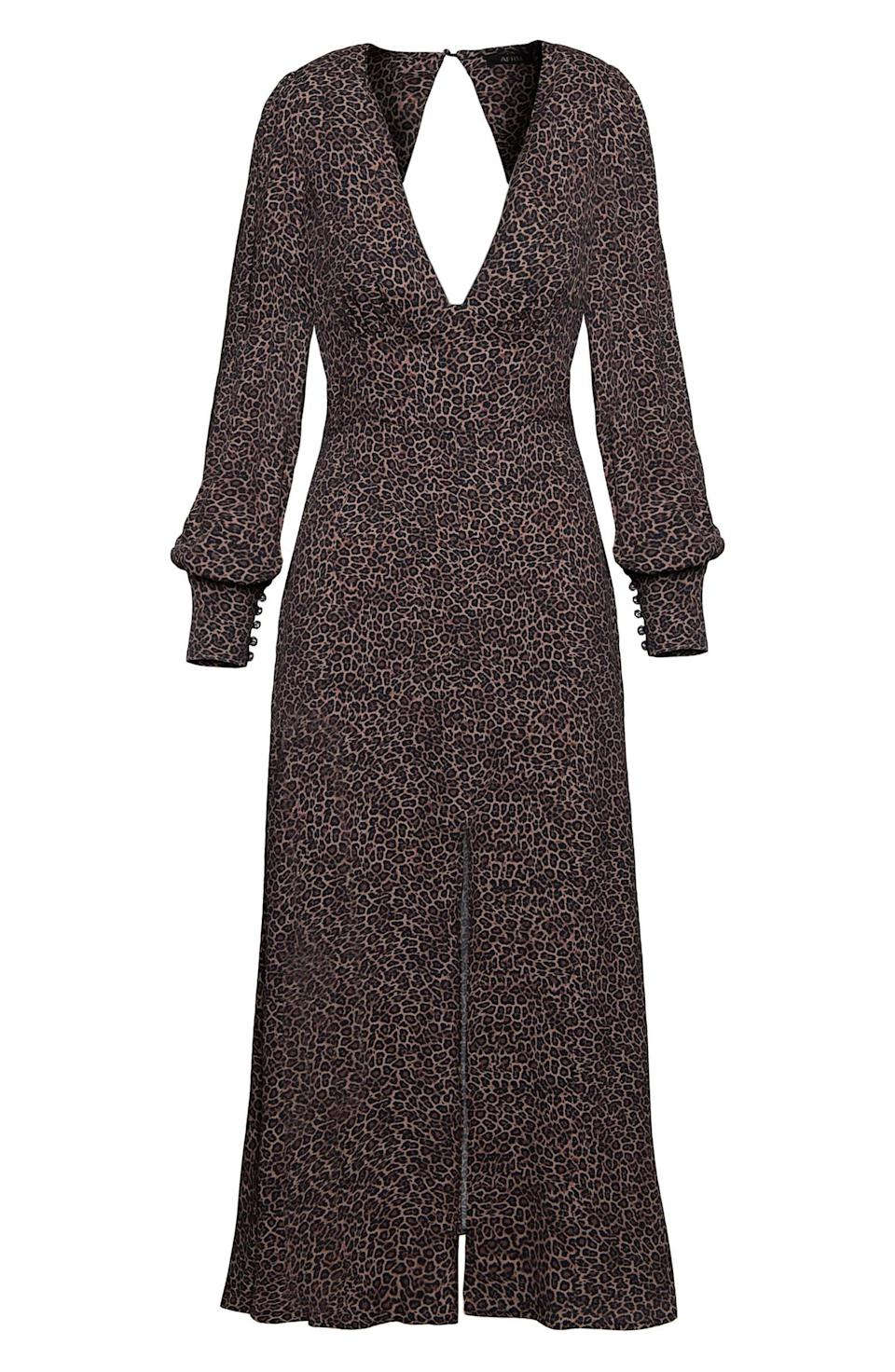 <p>This <span>AFRM Myles Animal Print Plunge Neck Long Sleeve Dress</span> ($62, originally $148) will make you look and feel good.</p>