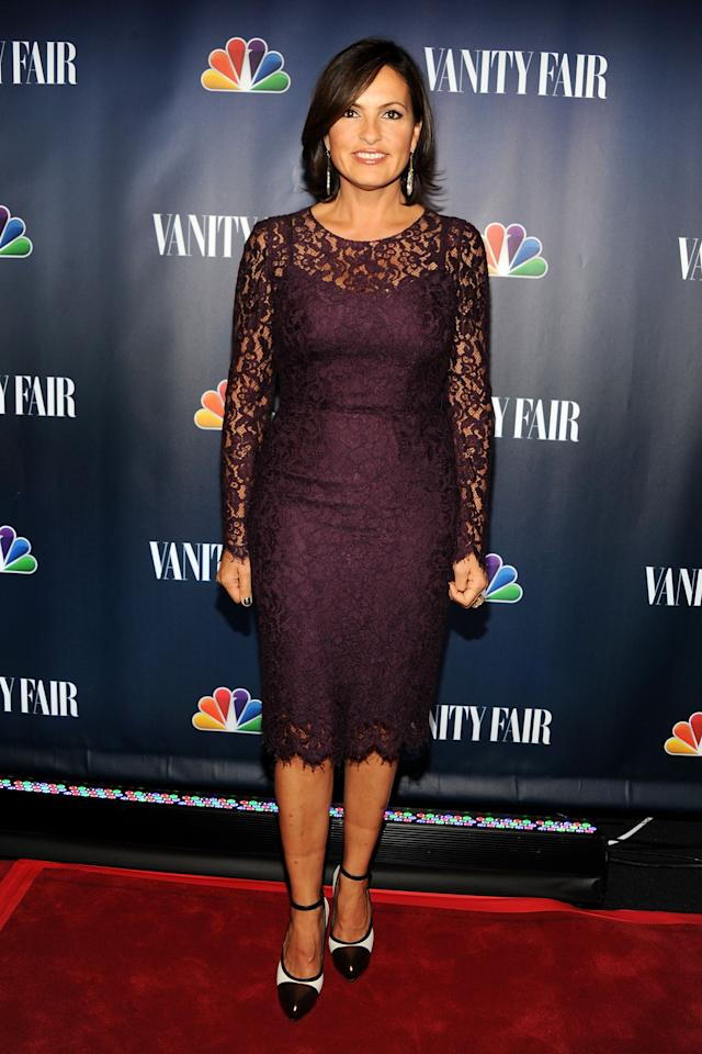 NEW YORK, NY - SEPTEMBER 16: Actress Mariska Hargitay attends NBC's 2013 Fall Launch Party Hosted By Vanity Fair at The Standard Hotel on September 16, 2013 in New York City. (Photo by Ben Gabbe/Getty Images)
