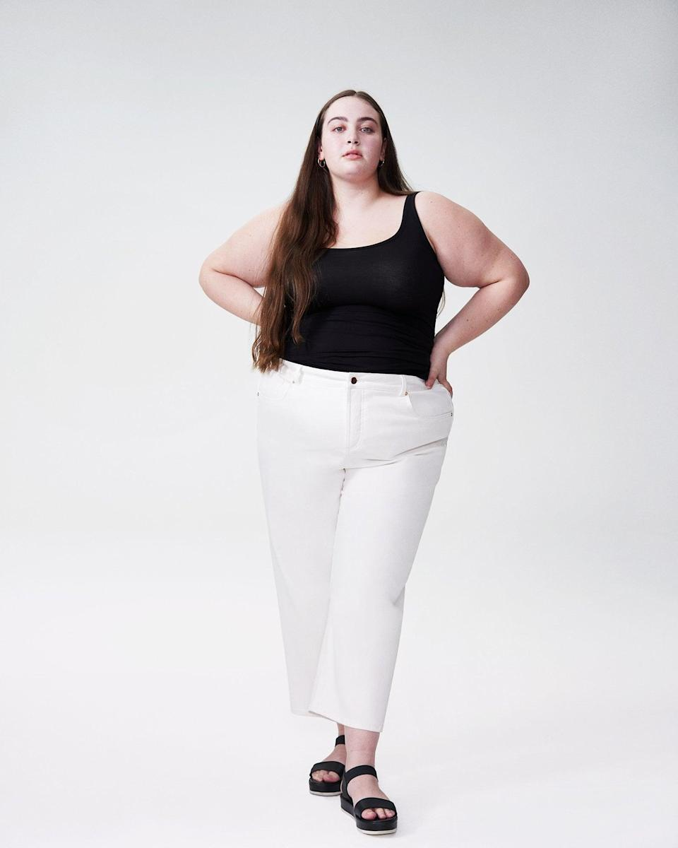 <p>The <span>Universal Standard Bae Boyfriend Crop Jeans</span> ($98) come in sizes 00-40, and you can try them at home for free before you commit to buying them. Customers love the fit and feel and describe these as a wardrobe staple.</p>