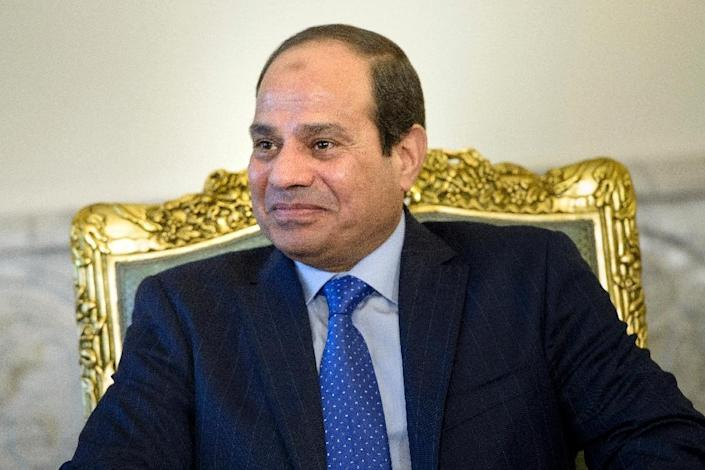 Egypt's President Abdel Fattah al-Sisi, pictured at the presidential palace in Cairo, on August 2, 2015 (AFP Photo/Brendan Smialowski)
