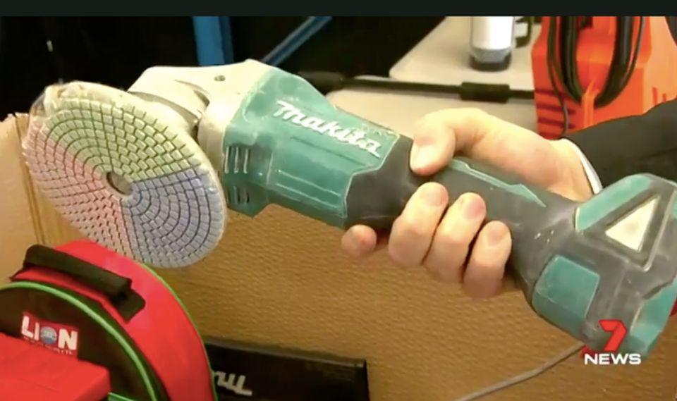 A Makita power tool gets left behind. Source: 7 News