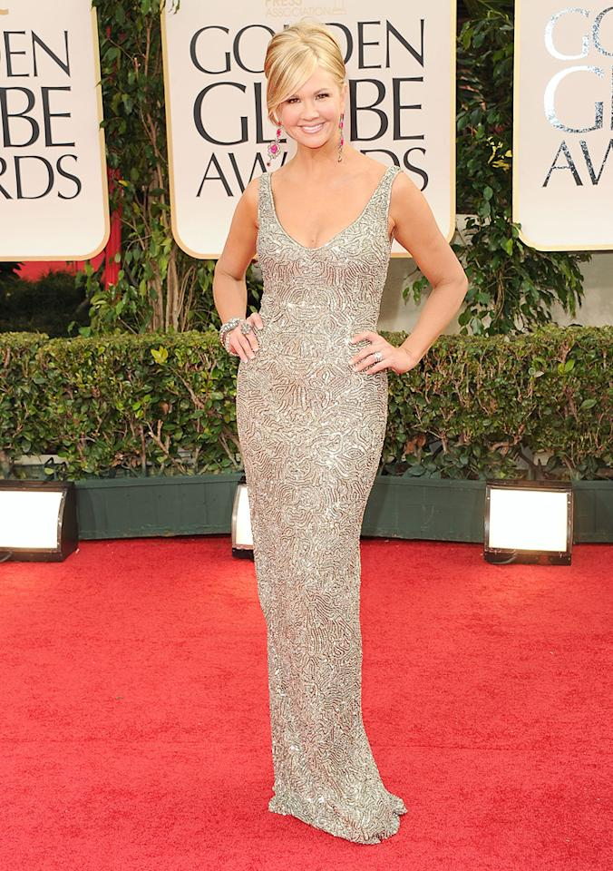 Nancy O'Dell arrive at the 69th Annual Golden Globe Awards in Beverly Hills, California, on January 15.