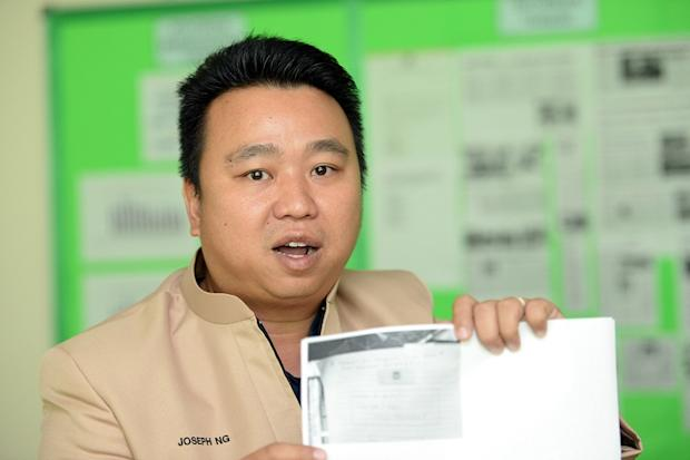 Last week, councillors Ong Ah Teong and Joseph Ng (pic) revealed that three MBPP enforcement officers were caught demanding money from traders and premise owners under the pretext of checking their permits. — Picture by KE Ooi