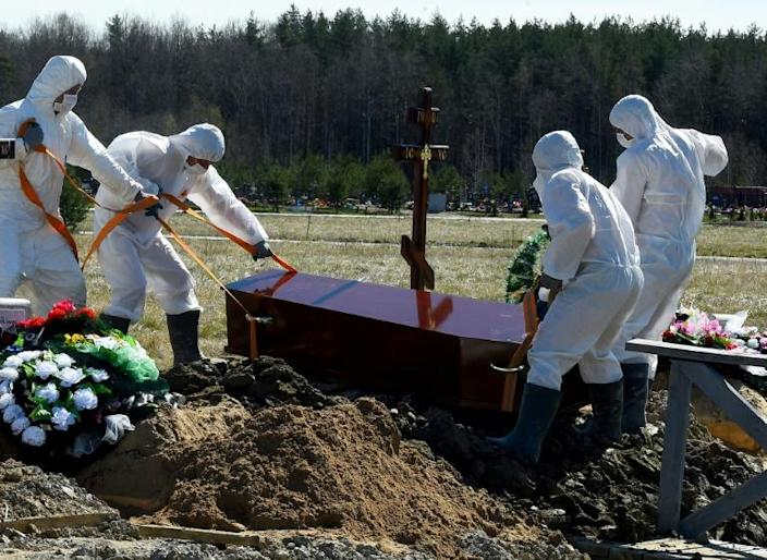 Over 165,000 cases of COVID-19 have been officially recorded in Russia with over 1,500 fatalities (AFP Photo/OLGA MALTSEVA)