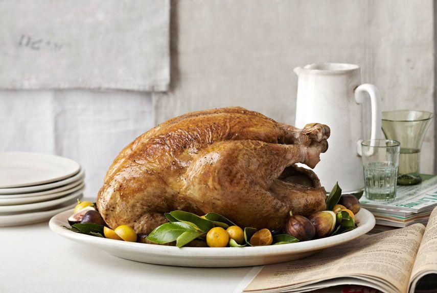 """<p>From grits to bacon, this menu is chock full of <a href=""""https://www.countryliving.com/food-drinks/g894/comfort-foods-1109/"""" rel=""""nofollow noopener"""" target=""""_blank"""" data-ylk=""""slk:delicious comfort food"""" class=""""link rapid-noclick-resp"""">delicious comfort food</a>.</p><p><strong>Main Course:</strong></p><p><a href=""""https://www.countryliving.com/food-drinks/recipes/a4237/perfect-roast-turkey-recipe-clv1112/"""" rel=""""nofollow noopener"""" target=""""_blank"""" data-ylk=""""slk:Perfect Roast Turkey"""" class=""""link rapid-noclick-resp"""">Perfect Roast Turkey</a></p><p><strong>Side Dishes:</strong></p><p><a href=""""https://www.countryliving.com/food-drinks/recipes/a1872/cheese-grits-corn-pudding-3997/"""" rel=""""nofollow noopener"""" target=""""_blank"""" data-ylk=""""slk:Cheese Grits and Corn Pudding"""" class=""""link rapid-noclick-resp"""">Cheese Grits and Corn Pudding</a></p><p><a href=""""https://www.countryliving.com/food-drinks/recipes/a913/roasted-sweet-potato-casserole-praline-streusel-3014/"""" rel=""""nofollow noopener"""" target=""""_blank"""" data-ylk=""""slk:Roasted Sweet Potato Casserole with Praline"""" class=""""link rapid-noclick-resp"""">Roasted Sweet Potato Casserole with Praline</a></p><p><a href=""""https://www.countryliving.com/food-drinks/recipes/a3466/brussels-sprouts-salad-recipe-clv1010/"""" rel=""""nofollow noopener"""" target=""""_blank"""" data-ylk=""""slk:Marvin Woods's Brussels Sprouts, Red Pepper, and Avocado Salad"""" class=""""link rapid-noclick-resp"""">Marvin Woods's Brussels Sprouts, Red Pepper, and Avocado Salad</a></p><p><a href=""""https://www.countryliving.com/food-drinks/recipes/a3574/potato-celery-root-gratin-recipe-clv0211/"""" rel=""""nofollow noopener"""" target=""""_blank"""" data-ylk=""""slk:Potato and Celery Root Gratin"""" class=""""link rapid-noclick-resp"""">Potato and Celery Root Gratin</a></p><p><a href=""""https://www.countryliving.com/food-drinks/recipes/a4225/green-beans-bacon-recipe-clv1112/"""" rel=""""nofollow noopener"""" target=""""_blank"""" data-ylk=""""slk:Green Beans with Bacon"""" class=""""link rapid-noclick-resp"""">Green Beans with Bacon</a></p><p><a href=""""https://ww"""