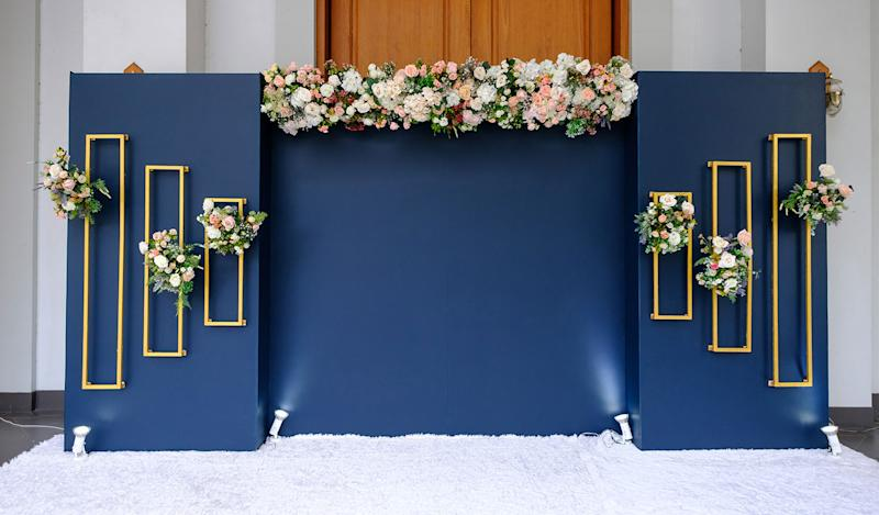 blank wedding space decor