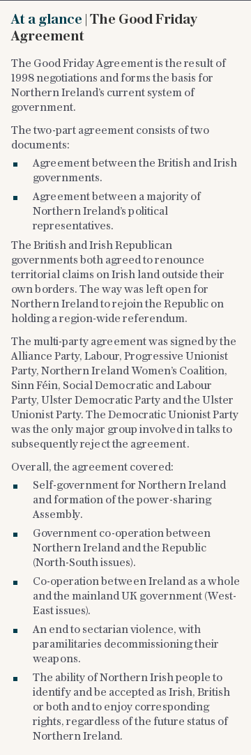 At a glance | The Good Friday Agreement