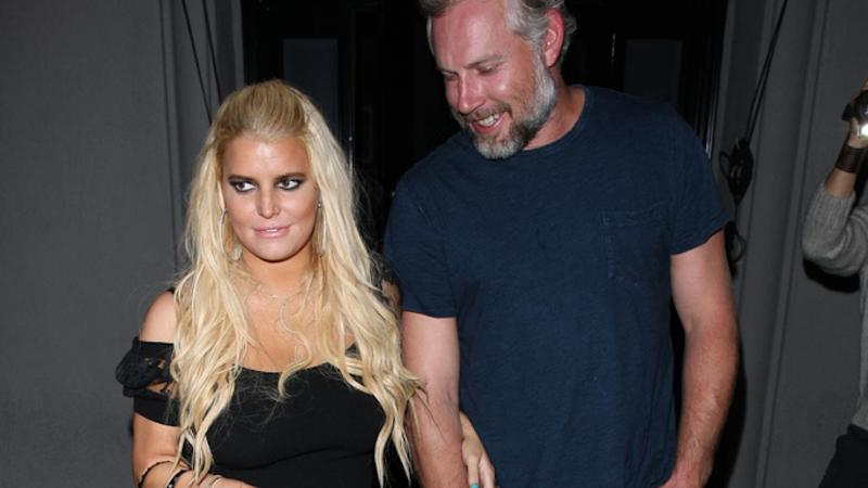 Jessica Simpson's Husband Sweetly Saves Her as She Takes a Tumble After Romantic Birthday Dinner: Pic!