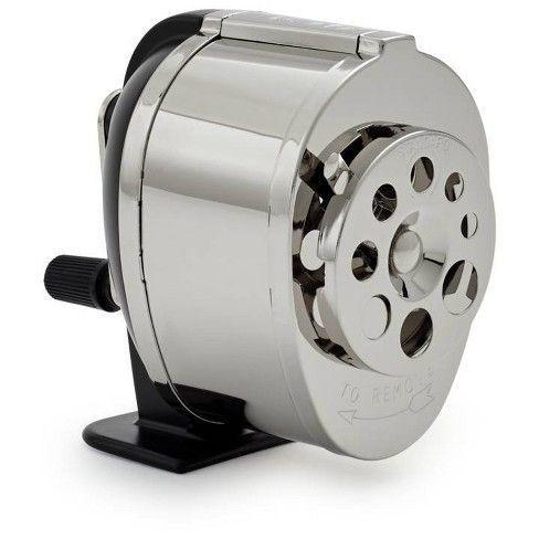 <p>Kids used to use pencils much more often, and so bringing your own pencil sharpener was a big advantage and sometimes essential. Kids today typically use mechanical sharpeners or really small ones, but years ago, they relied on these bulky manual sharpeners. </p>
