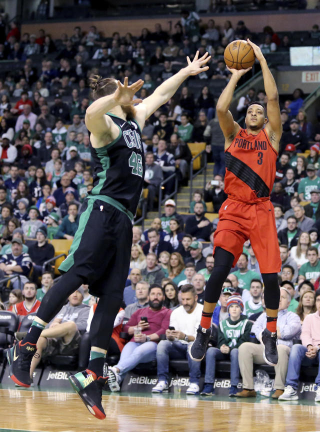 McCollum's shooting splits of 45-42-86 are a testament to his overall efficiency. (AP Photo/Mary Schwalm)