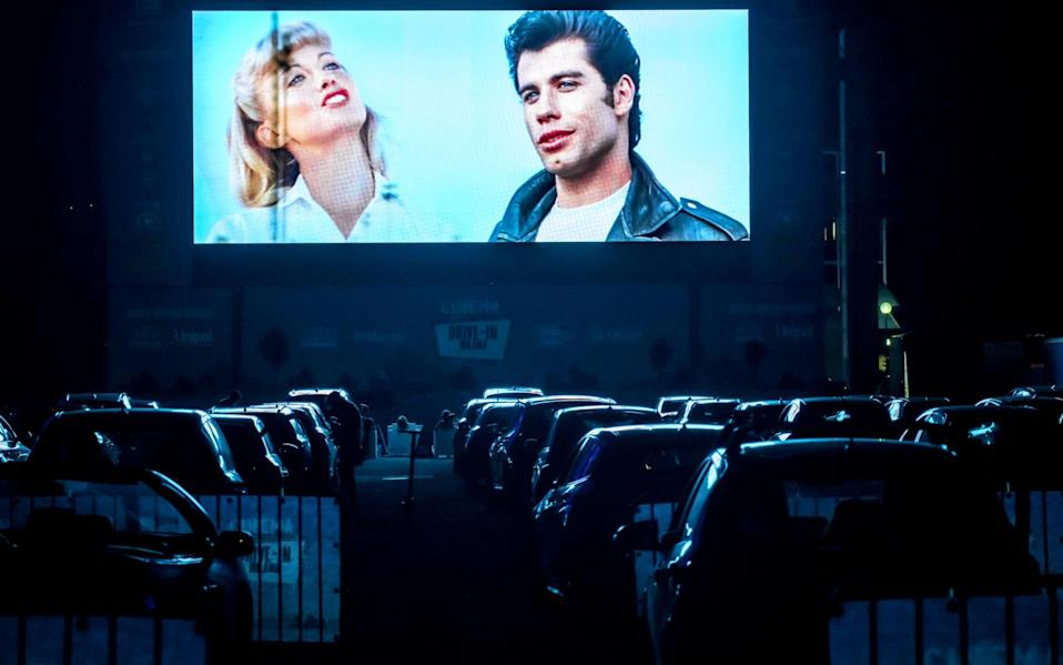 The new normal: a drive-in cinema in Milan, Italy - Getty