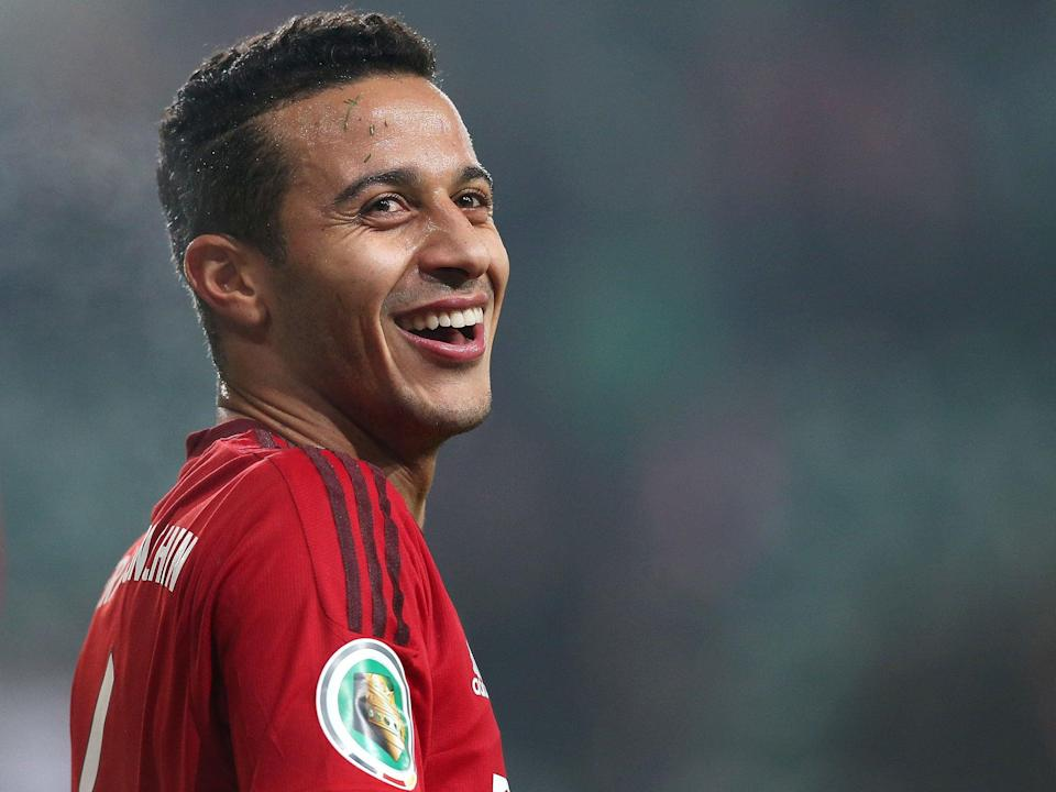 Thiago left Barcelona in 2013 to follow Pep Guardiola to Bayern despite United launching two attempts to try and sign him