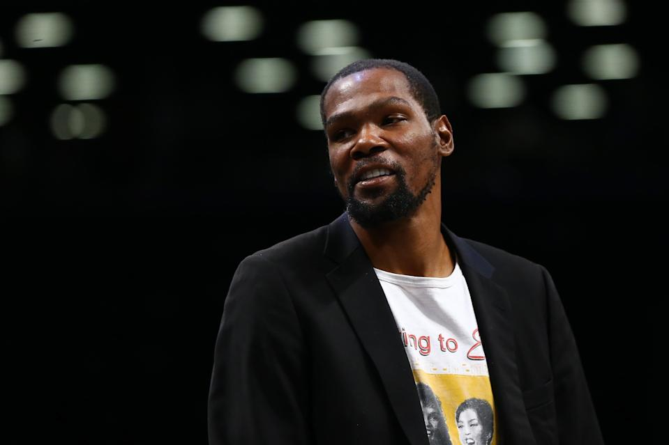 Kevin Durant is a minority MLS owner. (Photo by Mike Stobe/Getty Images)
