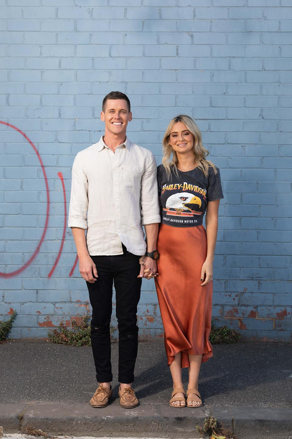 The Block's Tessa and Luke have shared their top tips with Yahoo Lifestyle on how to style a room on a budget. Photo: Supplied