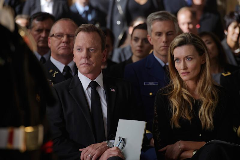 """Kiefer Sutherland and Natascha McElhone as the president and first lady on ABC's """"Designated Survivor."""" (ABC)"""