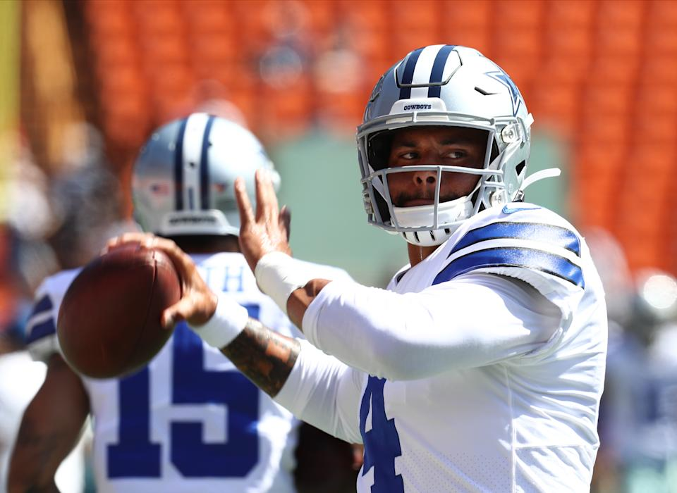Dak Prescott and the Dallas Cowboys' offense looked good early in a preseason game against the Los Angeles Rams in Hawaii. (Getty Images)