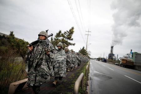 U.S., South Korean marines hold small-scale military drills