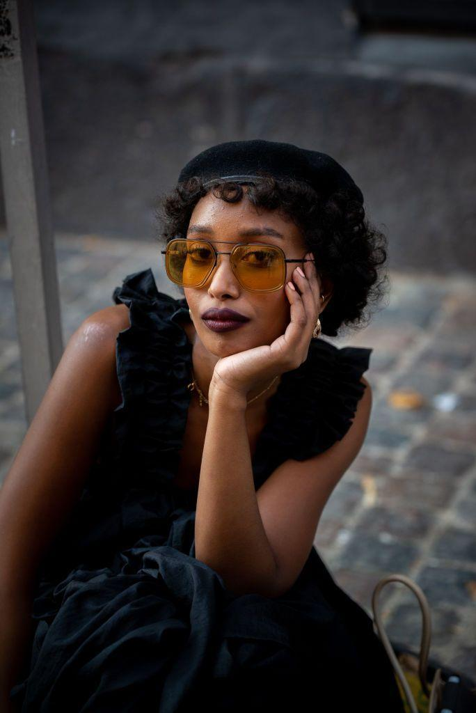 <p>These '70s-inspired yellow sunnies make everything cooler.</p>