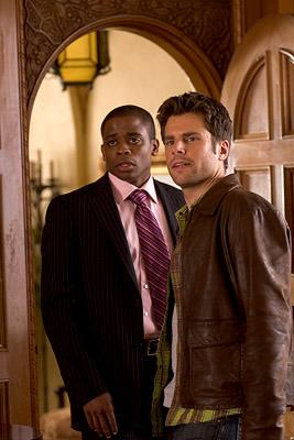 """Dule Hill and James Roday in """"Psych."""""""