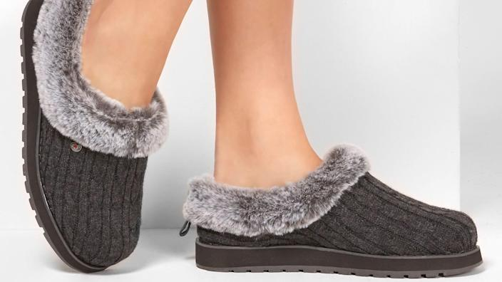 She won't ever want to take off these faux-fur slippers.