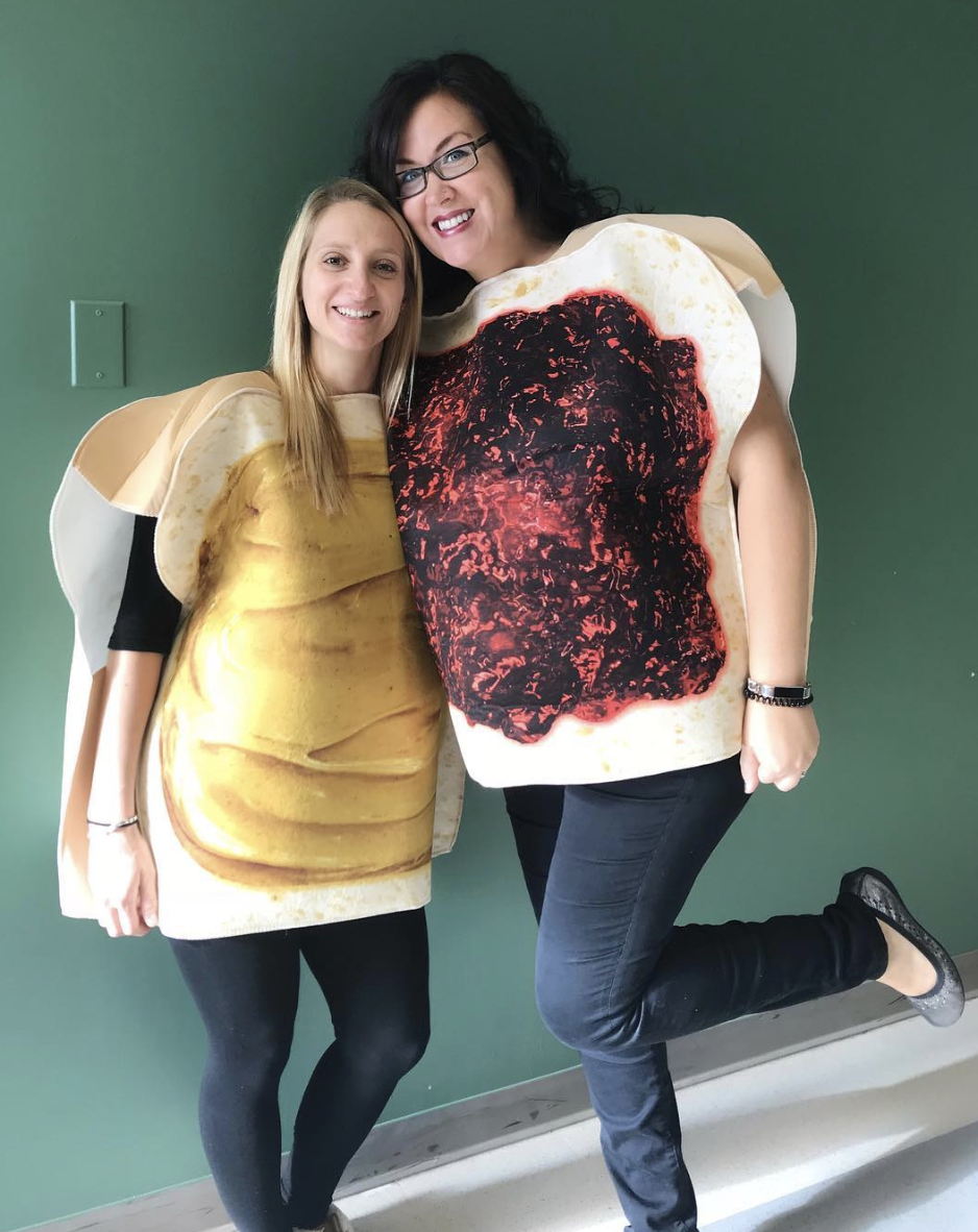 """<p>Who is the peanut butter to your jelly? These two costumes pair so nicely together just like you and your confidante will.</p><p><a class=""""link rapid-noclick-resp"""" href=""""https://www.amazon.com/FunWorld-Peanut-Butter-Jelly-Purple/dp/B007VOB4KI/?tag=syn-yahoo-20&ascsubtag=%5Bartid%7C10072.g.27868790%5Bsrc%7Cyahoo-us"""" rel=""""nofollow noopener"""" target=""""_blank"""" data-ylk=""""slk:Shop Costumes"""">Shop Costumes</a></p>"""