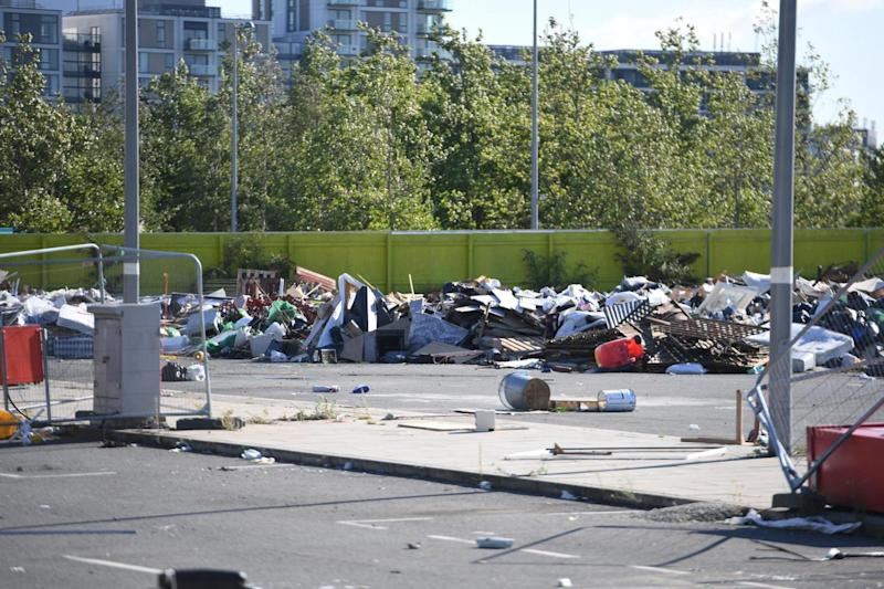 Travellers were evicted from the site last Wednesday following a High Court order (Jeremy Selwyn)