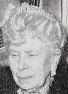 Queen Mary wearing the diamond bandeau tiara - Credit: Pinterest