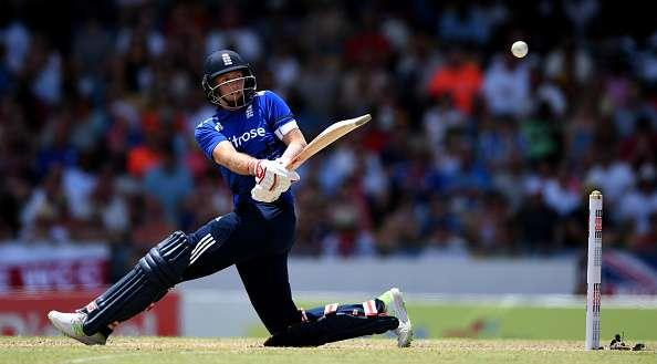 BRIDGETOWN, BARBADOS - MARCH 09: Joe Root of England bats during the 3rd One Day International between the West Indies and England at Kensington Oval on March 9, 2017 in Bridgetown, Barbados. (Photo by Gareth Copley/Getty Images)
