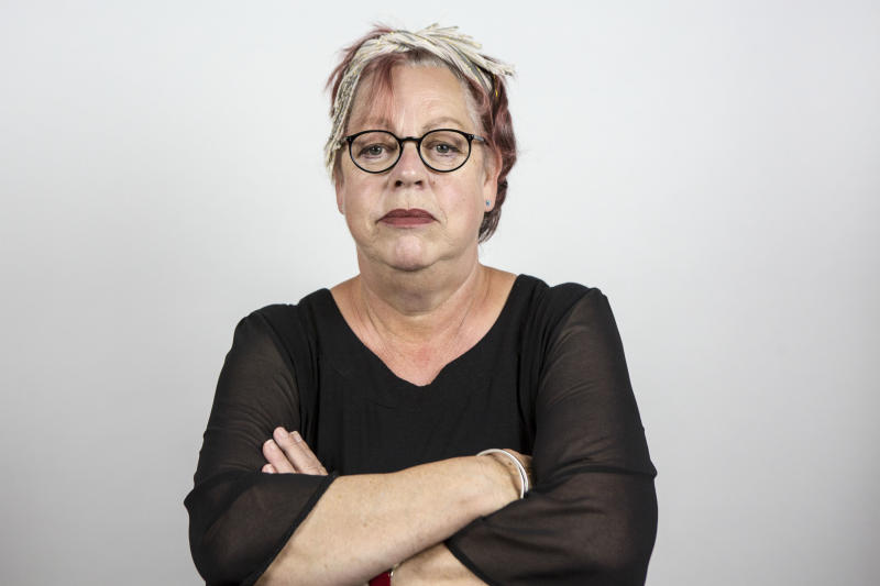 Jo Brand. The Peoples Assembly presents: Stand Up Against Austerity. Live at the Hammersmith Apollo. London. (Photo by In Pictures Ltd./Corbis via Getty Images)