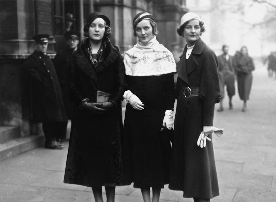 Unity, Diana and Nancy Mitford in 1932Getty Images