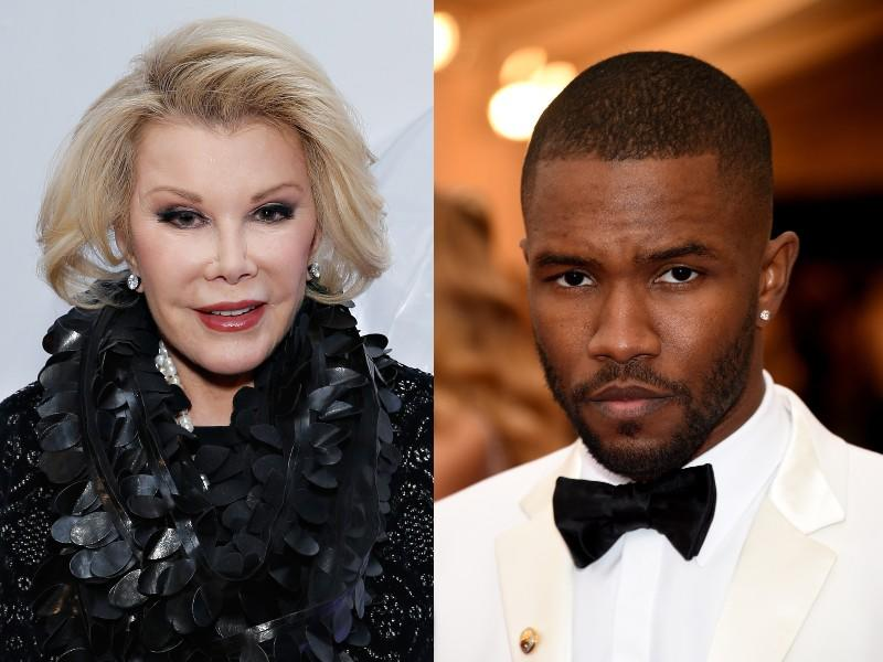 Joan Rivers and Frank Ocean. (Photos: Getty Images)
