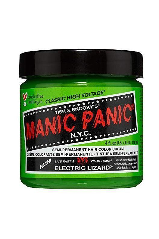"<p><strong>MANIC PANIC</strong></p><p>amazon.com</p><p><strong>$9.99</strong></p><p><a href=""https://www.amazon.com/dp/B00VVJJX0M?tag=syn-yahoo-20&ascsubtag=%5Bartid%7C10058.g.13121362%5Bsrc%7Cyahoo-us"" target=""_blank"">SHOP IT</a></p><p>You can't write about hair dyes and not include the most famous of famous brands: Manic Panic. This vegan formula is thick and creamy, making it super easy to spread throughout your hair. And the insanely bright colors will leave darker hair with a subtle, navy tint, while on white or blonde hair the dye will result in a rainbow-worthy shade.</p>"
