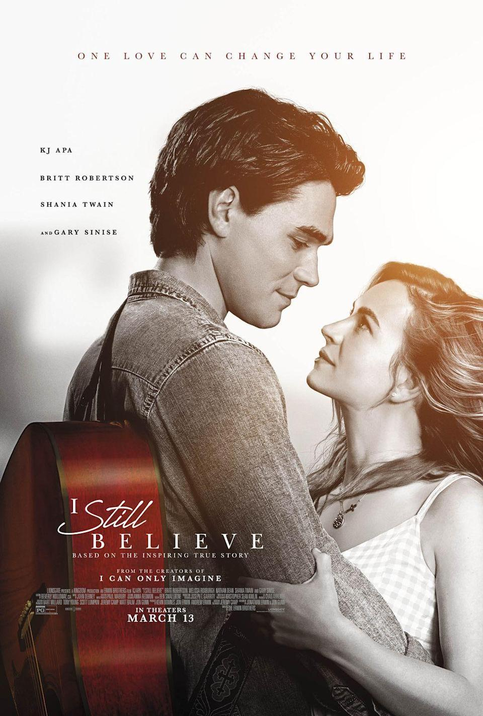 """<p>The only thing more tear-jerking than the plot of this movie is that it's based on a true love story. A Christian singer-songwriter is forced to accept the cruel reality that his wife is dying from cancer, causing him to question his faith and accept a new reality without the love of his life.</p><p><a class=""""link rapid-noclick-resp"""" href=""""https://go.redirectingat.com?id=74968X1596630&url=https%3A%2F%2Fwww.vudu.com%2Fcontent%2Fmovies%2Fdetails%2FI-Still-Believe%2F1361792&sref=https%3A%2F%2Fwww.redbookmag.com%2Flife%2Fg36572054%2Fbest-movies-based-on-true-storie1%2F"""" rel=""""nofollow noopener"""" target=""""_blank"""" data-ylk=""""slk:Watch Here"""">Watch Here</a></p>"""