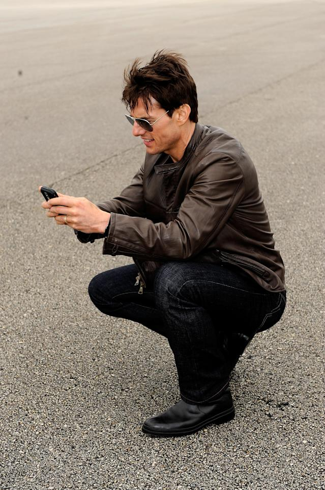 Tom Cruise has joined Instagram. Here's hoping he shows us the real Tom, which we haven't seen in quite some time. (Photo: Getty Images)
