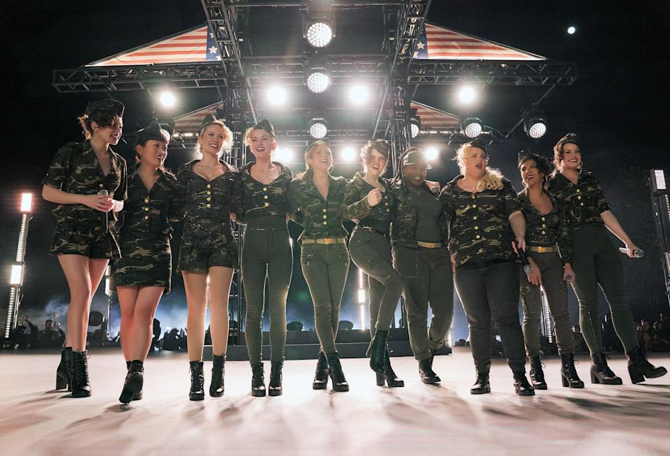 The Bellas take a bow in <em>Pitch Perfect 3.</em> (Photo: Quantrell D. Colbert/Universal Pictures/courtesy Everett Collection)