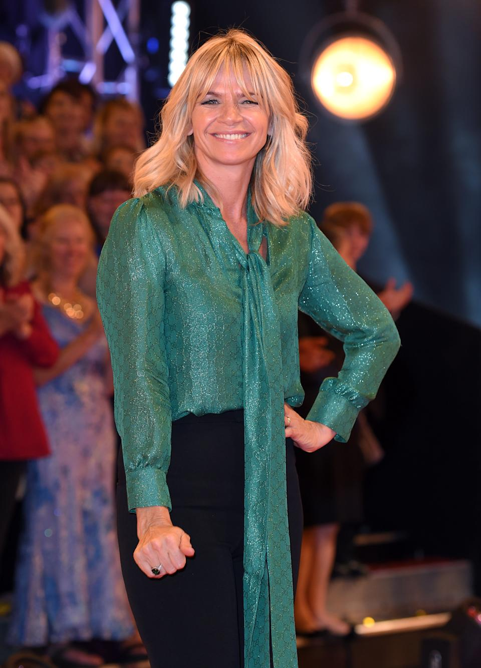 BOREHAMWOOD, ENGLAND - AUGUST 30:  Zoe Ball arrives for the Red Carpet Launch of 'Strictly Come Dancing 2016' at Elstree Studios on August 30, 2016 in Borehamwood, England.  (Photo by Karwai Tang/WireImage)