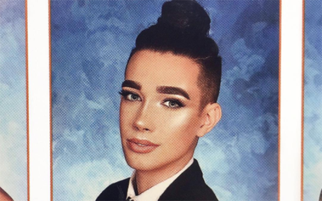 James Charles has a high school yearbook photo that will never be forgotten. (Photo: Instagram/James Charles)