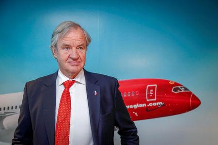 Bjoern Kjos, CEO of Norwegian Air Shuttle ASA, attends a news conference in Oslo