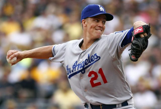 PITTSBURGH, PA - JUNE 16: Zack Greinke #21 of the Los Angeles Dodgers pitches in the first inning against the Pittsburgh Pirates during the game on June 16, 2013 at PNC Park in Pittsburgh, Pennsylvania. (Photo by Justin K. Aller/Getty Images)