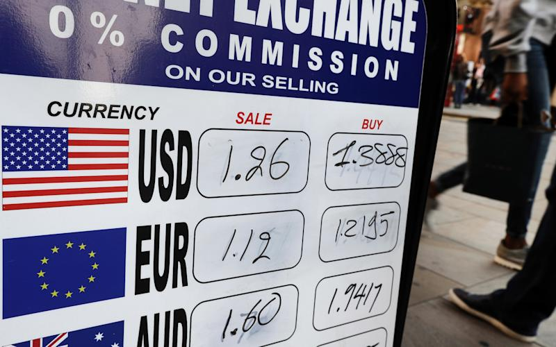 The pound has fallen to $1.24 - Copyright 2016 The Associated Press. All rights reserved.