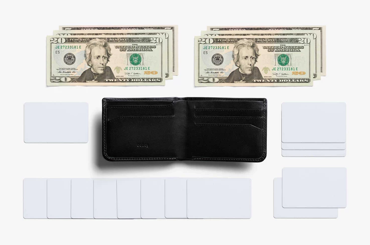 The slim leather wallet holds up to 5 to 12 cards and has a hidden coin pouch. (Photo: Bellroy)