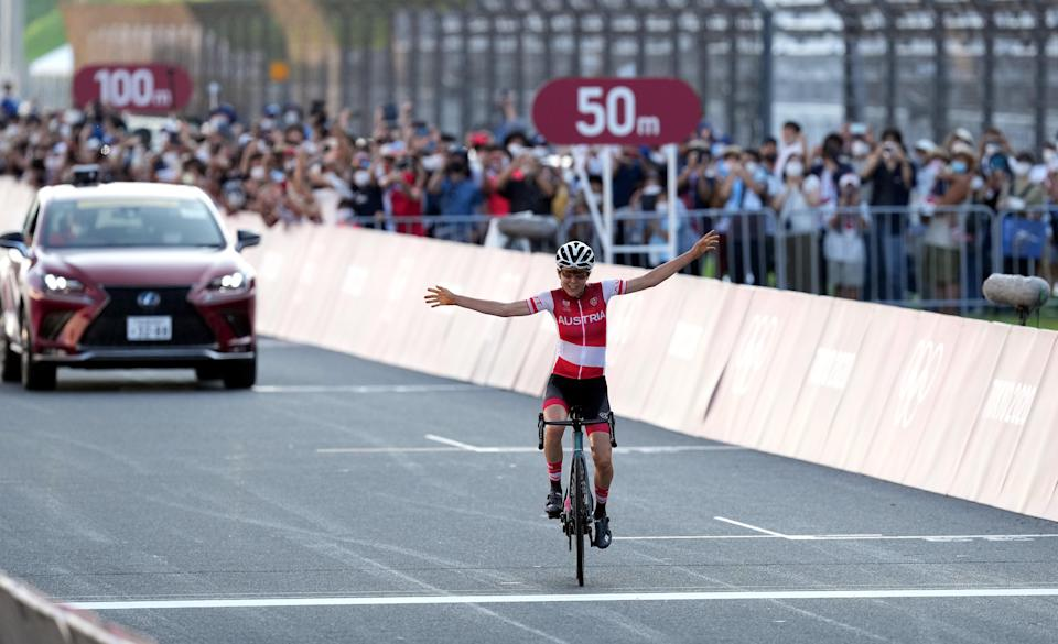 Anna Kiesenhofer took a shock gold for Austria in the women's cycling road race (Martin Rickett/PA) (PA Wire)
