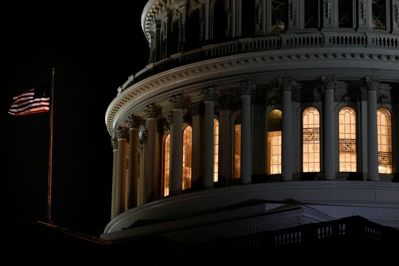 FILE PHOTO: The U.S. Capitol Rotunda is seen following the U.S. House of Representatives' vote on two articles of impeachment against U.S. President Donald Trump in Washington