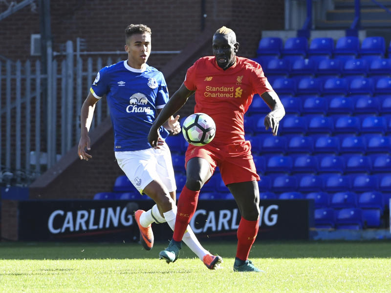 Sakho was forced to play for Liverpool's U23 team after falling out of favour with Klopp: Liverpool FC via Getty