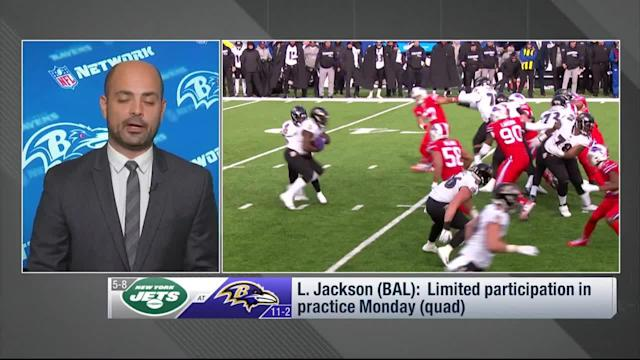 NFL Network's Mike Garafolo reports that Baltimore Ravens quarterback Lamar Jackson's injury is not likely to keep him out in Week 15.